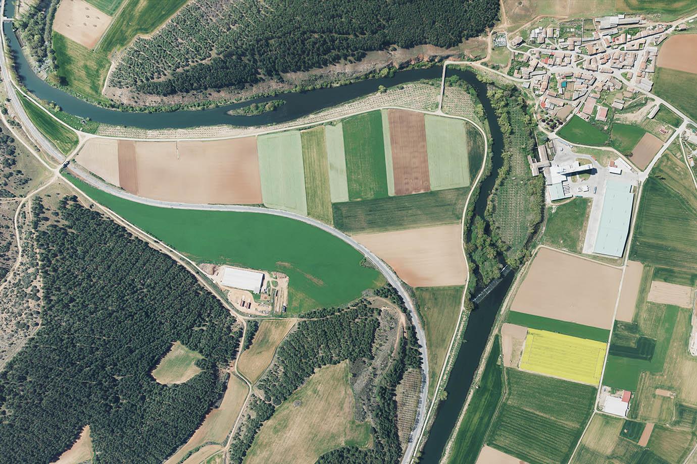fotografía aérea vertical